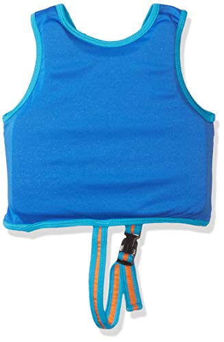SwimSchool New & Improved Swim Trainer Vest, Flex-Form, Adjustable Safety Strap, Easy on and Off, Small/Medium, Up to 33 lbs., Blue/Orange by SwimSchool (Image #1)