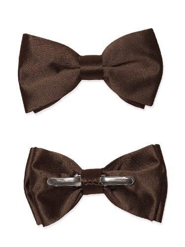 Boy's Matte Satin Clip Bow Tie by Dessy - Espresso