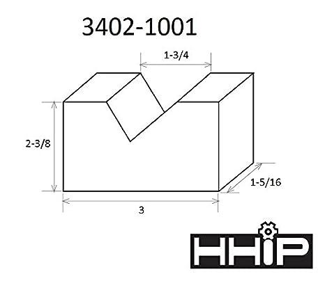 3402-1000 HHIP 2 X 1-5//8 X 1-3//8 INCH CAST IRON V BLOCK SET