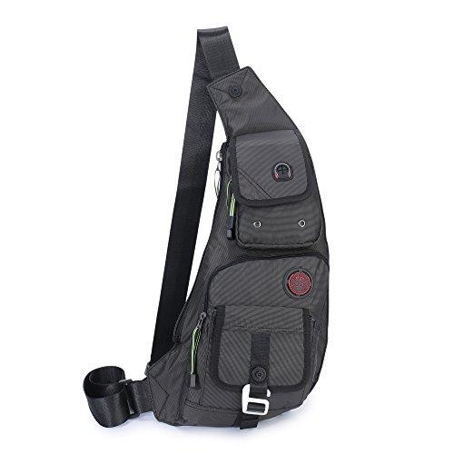 DDDH Sling Bags Shoulder Backpack Chest Pack Military Crossbody Bags For Man Women (2627 Black)
