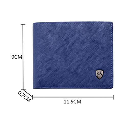 Uomo Carte Di Tasche Multi Affari Colore Per Credito D'affari Portafoglio In Porta 13 Pelle pocket Da Portamonete Nero Bifold t4wIzw