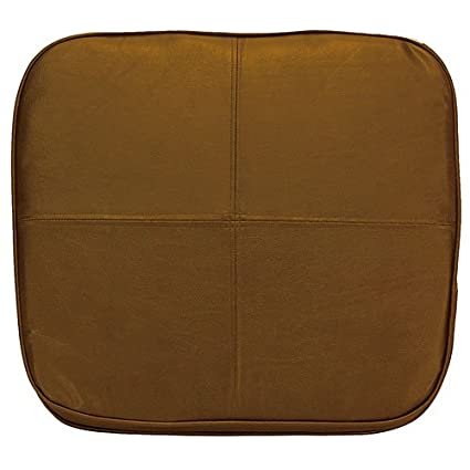 Kennedy Home Collections Faux Leather Chair Pad In Chocolate