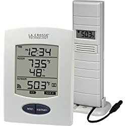 La Crosse Technology WS-9029U Wireless Weather Station with Digital Time, L, White