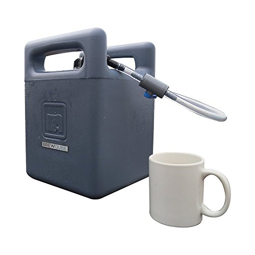 (BrewQube Mobile Draft Growler System Beer and Beverage Dispensing System (Blue))