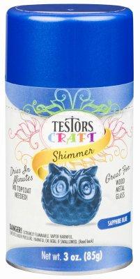(Testor 304362 Craft Paint, Sapphire Blue Shimmer, 3-oz. Aerosol - Quantity 3)