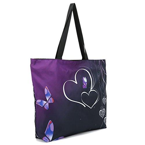 Tote Bags Pink Hydrangea Flower Travel Totes Bag Fashion Handbags Shopping Zippered Tote For Women Waterproof Handbag