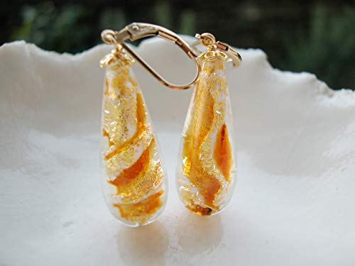 (Amber Murano Drop Glass)
