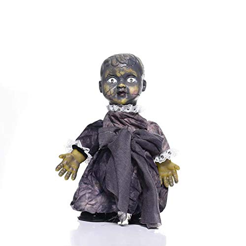 KKING Halloween Dolls, Haunted Talking Doll Halloween Creepy Prop, Luminous & Walking Doll Horror Scary Possessed Doll with Sound (A)