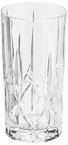 Marquis by Waterford 160422 Sparkle High Ball Glasses, 22-Ounce, Set of 4 Hi Ball Glass Set