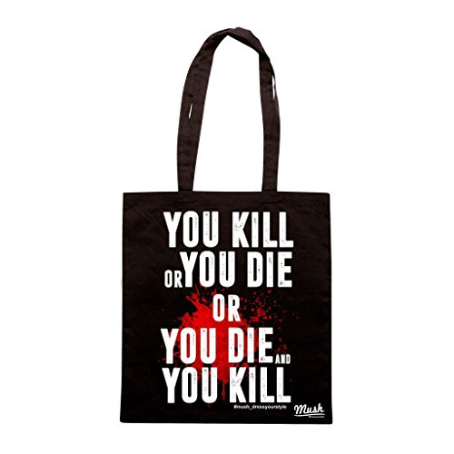 Borsa KILL OR DIE BLOOD - THE WALKING DEAD - Nera - FILM by Mush Dress Your Style