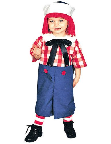 Raggedy Andy Costume - Toddler Costume 2T-4T (Toddler Raggedy Ann Costume)