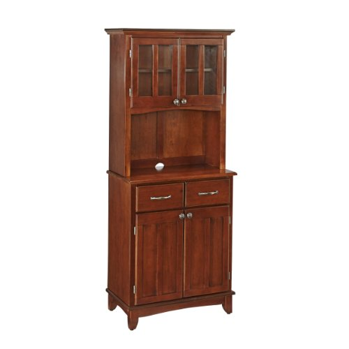 Buffet of Buffet Medium Cherry with Hutch by Home Styles