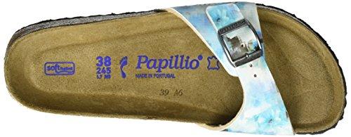 Papillio Damen Madrid Birko-Flor Softfootbed Pantoletten Mehrfarbig (Pixel Blue Soft)