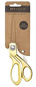 American Crafts Motion DIY 3 Metal Gold 8 Inch Large Scissor