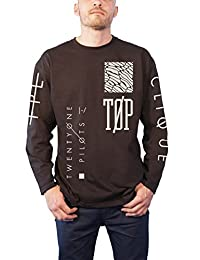 21 Twenty One Pilots T Shirt band Logo Official Mens New Black Long Sleeve