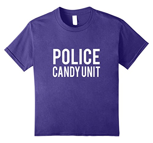 Cotton Candy Halloween Costumes (Kids Police Candy Unit Halloween Costume T Shirt 8 Purple)