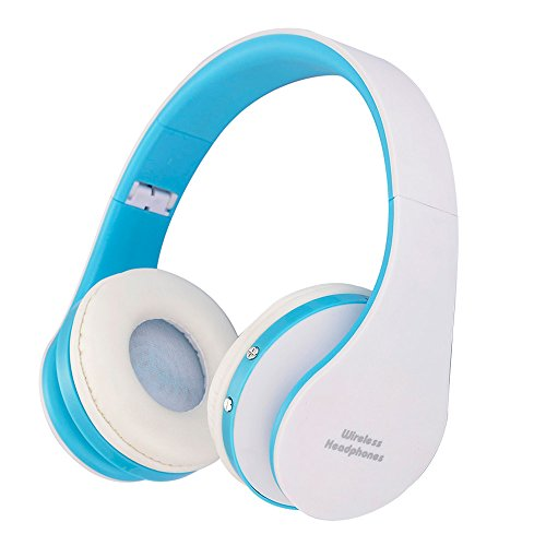 Wireless Headphones,FORTULY Bluetooth Headset with Microphone for Kids Adult ,Lightweight On-Ear Headphones,Earphones for FM Radio MP3 MP4 PC Tablets Mobiles- Adjustable For Sale