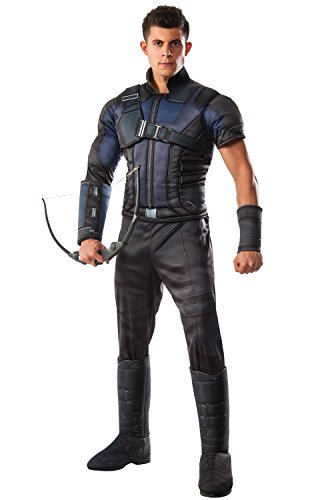 Rubie's Costume Co Marvel Men's Captain America: Civil War Deluxe Muscle Chest Hawkeye -