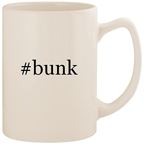 - #bunk - White Hashtag 14oz Ceramic Statesman Coffee Mug Cup