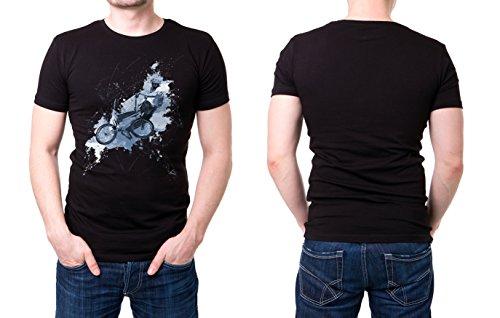 BMX_II schwarzes modernes Herren T-Shirt mit stylischen Aufdruck