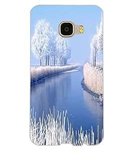 ColourCraft Beautiful Snowfall Design Back Case Cover for SAMSUNG GALAXY C5