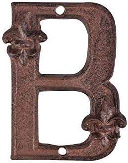 linoows Gr/ünderzeit Hausnummer Nr.5 aus Gusseisen Antike Ziffer 5
