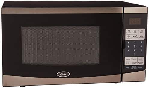 Oster 0.7 Cu. Ft. Compact Microwave - Stainless-steel/black Ogyu701