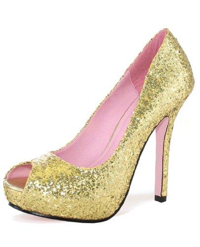 Leg Avenue 5011 - Ella 5 Zoll Glitzender Pump Schuh, Größe 7, gold