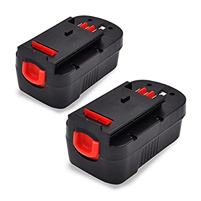 18V 3.0AH for Black and Decker Replacement Battery for HPB18 Cordless Power Tools 2packs from GERIT BATT