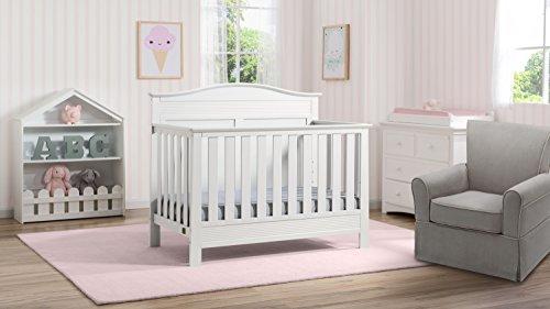 Serta-Barrett-7-Piece-Nursery-Furniture-Set-with-FREE-Baby-Monitor-ships-separately-Convertible-Crib-Toddler-Rail-Dresser-Changing-Top-Bookcase-Crib-Mattress-Glider