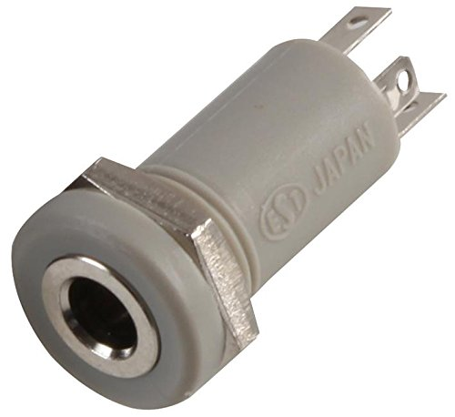 3.5MM Jack Socket 4P Grey Connector Body Material Plastic Body Connector Mounting Chassis Mount Cont
