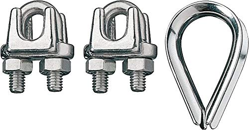 Ronstan Wire - Ronstan Wire Rope Clip and Thimble Kit, 5/32 In - ID003404-04 Pack of 2