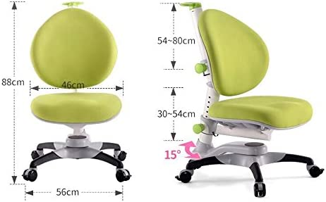 ApexDesk Little Soleil DX Series Children's Height Adjustable Chair, Green