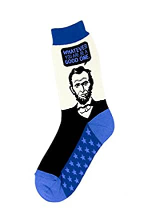 Foot Traffic - Women's Education-Theme Socks, Abe Lincoln (Shoe Sizes 4-10)