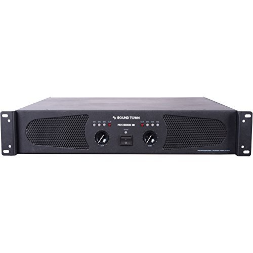 Sound Town Professional Dual-Channel, 2 x 1200W at 4-ohm, 5000W Peak Output Power Amplifier (NIX-5000IB)