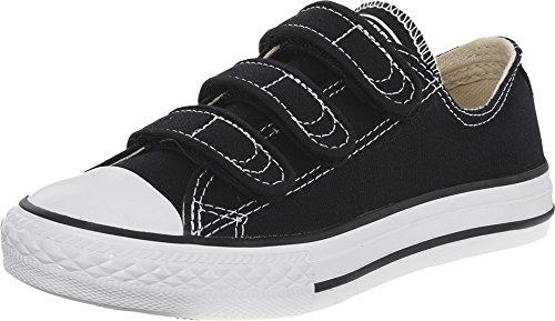 Converse Kids Chuck Taylor All Star 3 Strap (Little Kid), Black, M -