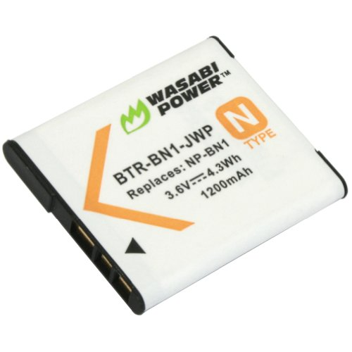 Wasabi Power Battery for Sony NP-BN1 (Compatible with Cyber-Shot DSC-QX10, DSC-QX30, DSC-QX100, DSC-TX100V, DSC-TX200V, DSC-W800, DSC-W810, DSC-W830, DSC-WX150, DSC-WX220 & - Np 1 Battery Ion Lithium