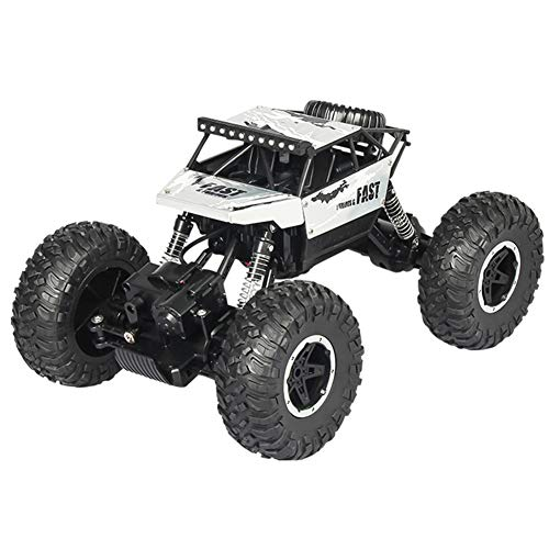 (bromrefulgenc RC Car,4WD 2.4Ghz Rechargeable RC Racing Car Off-Road Rock Crawler Vehicle Kids Toy Silver)