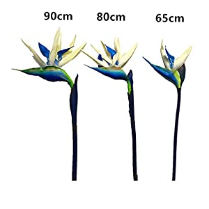 ShineBear Bird of Paradise – Big PU Real Touch Flower Decoration Artificial Flowers Wedding Flower Hotel Shopping Mart Party – (Color: 1 stem, Size: 65cm)