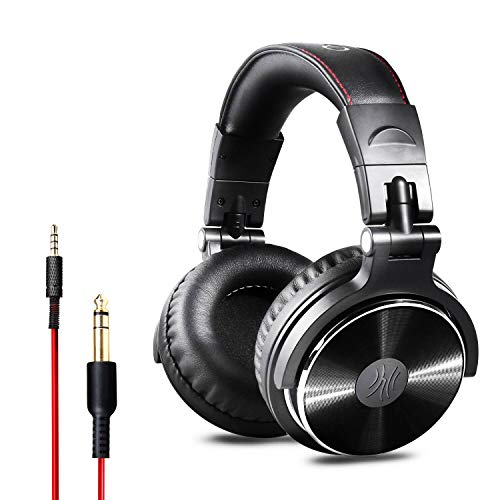 OneOdio Over Ear Kopfhörer mit Kabel, 50mm Treiber, Bassklang, 6.35 & 3.5mm Klinke, Share-Port, Geschlossene DJ…