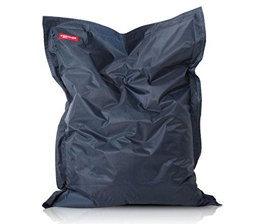 ROOMOX Original XXL Sitzsack für drinnen und draußen Stoff 160 x 120 x 30 cm, Dunkelblau