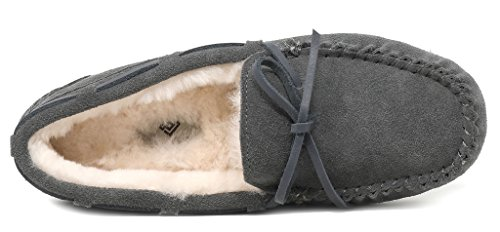 Women's Grey Winter 02 Auzy PAIRS Moccasins DREAM Slippers Fwz58Uxqq