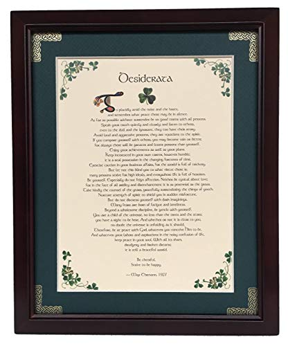 Desiderata - Personalizable Framed Green Matted - Tiny Framed