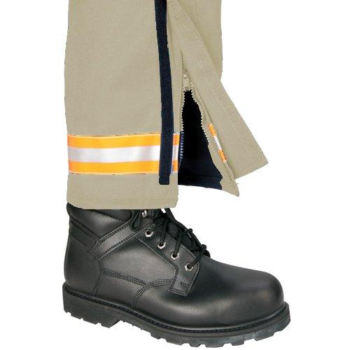 Khaki with 2 Red//Orange-Silver-Red//Orange Triple Trim 34 Inseam TOPPS SAFETY EP01R6152-44-34 ADVANCE EMS Pants 44 Waist Size