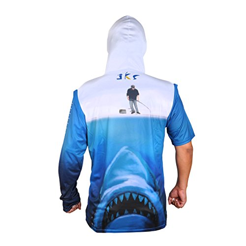 JEKOSEN SunBlock UPF 50 Dri Fit Quick-Dry Hoodie Long Sleeve & Convertible Long Sleeve Fishing Shirts Ruler On Forearm Unisex T-shirt
