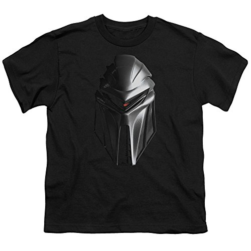 - BSG Cylon Head Unisex Youth T Shirt for Boys and Girls, Medium Black
