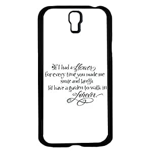 """If I Had a Flower for Every Time You Made Me Smile and Laugh I'd Have a Garden to Walk in Forever"" Hard Snap on Phone Case (Galaxy s4 IV) by icecream design"