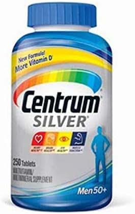 Centrum Silver Men Multivitamin/Multimineral Supplement Tablet, Vitamin D3, Age 50+ (250)
