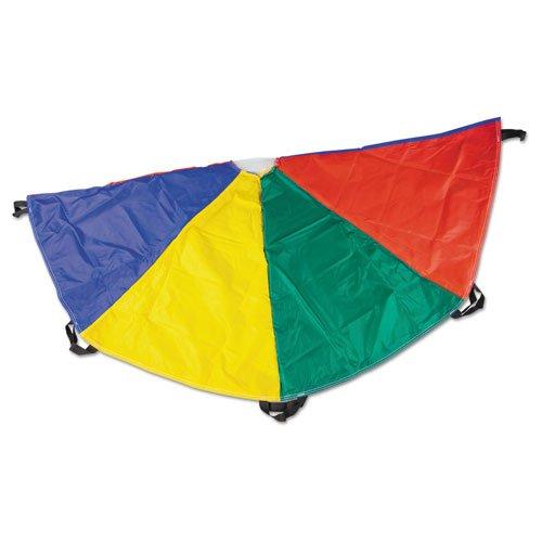 Champion Sports NP6 Nylon Multicolor Parachute 6ft Diameter 8 Handles