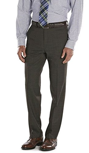 Chaps Men's Performance Comfort-Fit Wool-Blend Stretch Suit Pants, Olive (38W/29L) by Chaps